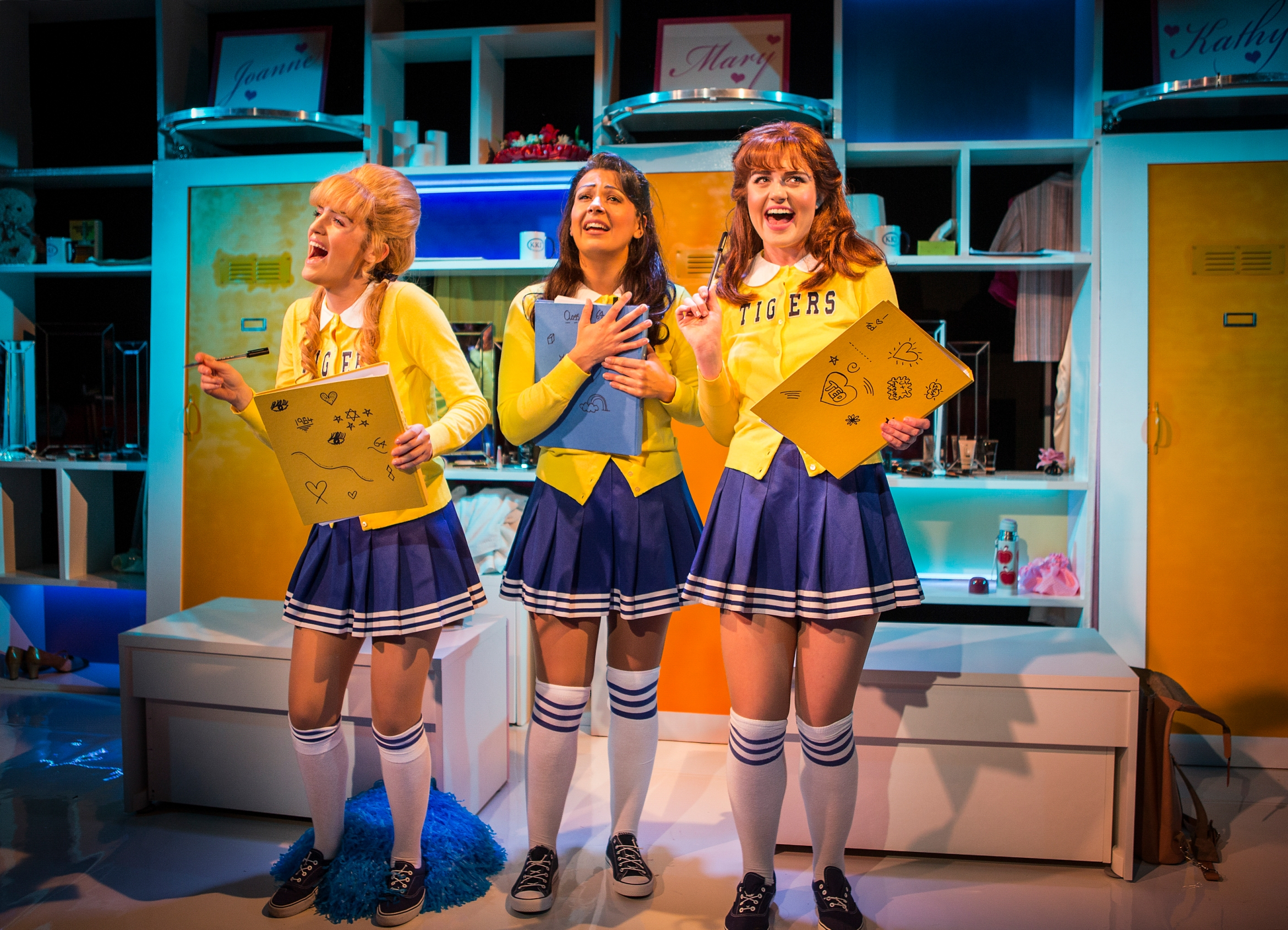 Vanities The Musical - Trafalgar Studios - Lauren Samuels, Ashleigh Gray and Lizzy Connolly -  Photo by Pamela Raith.jpg