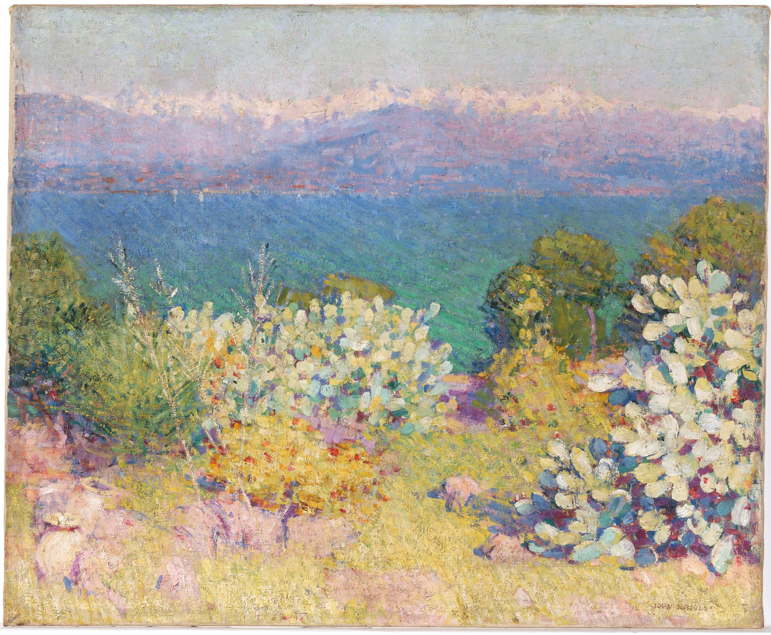 In the morning, Alpes Maritimes from Antibes, 1890-1