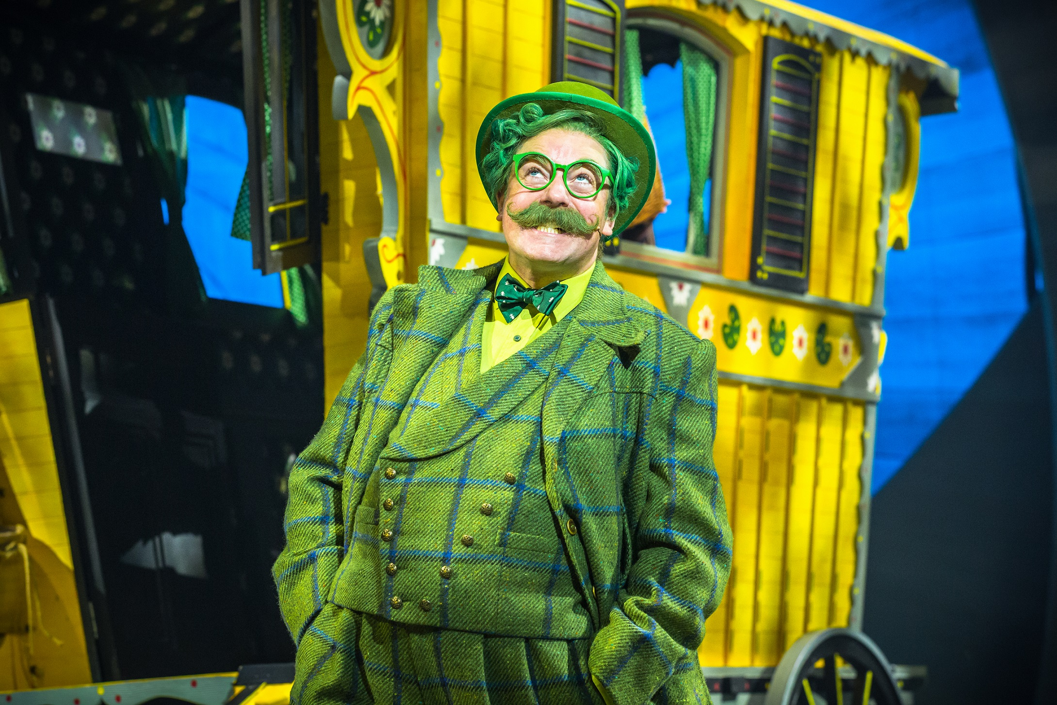 Rufus Hound as Mr Toad in The Wind in the Willows. Photo by Marc Brenner. Copyright Jamie Hendry Productions.jpg.jpg