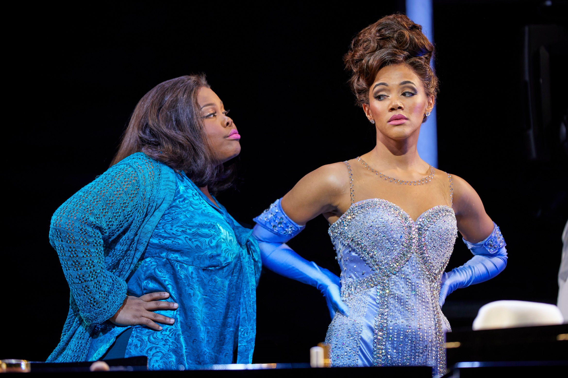 (l-r) Amber Riley and Lily Frazer in Dreamgirls at the Savoy Theatre. Credit Brinkhoff-Mögenburg.jpg