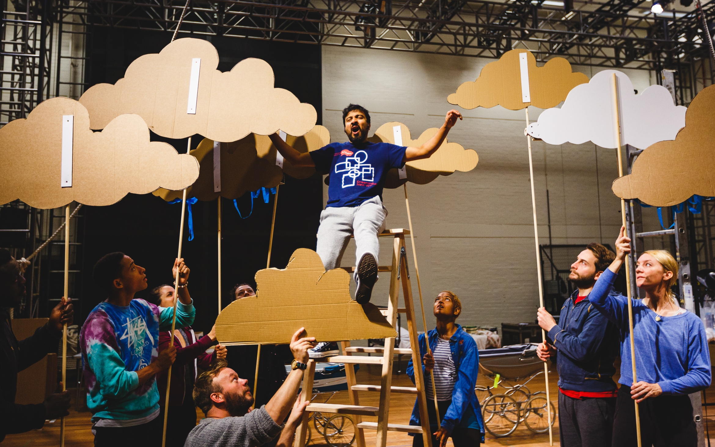 Saikat Ahamed (Tinkerbell) and the company rehearse Peter Pan (c) Steve Tanner.jpg