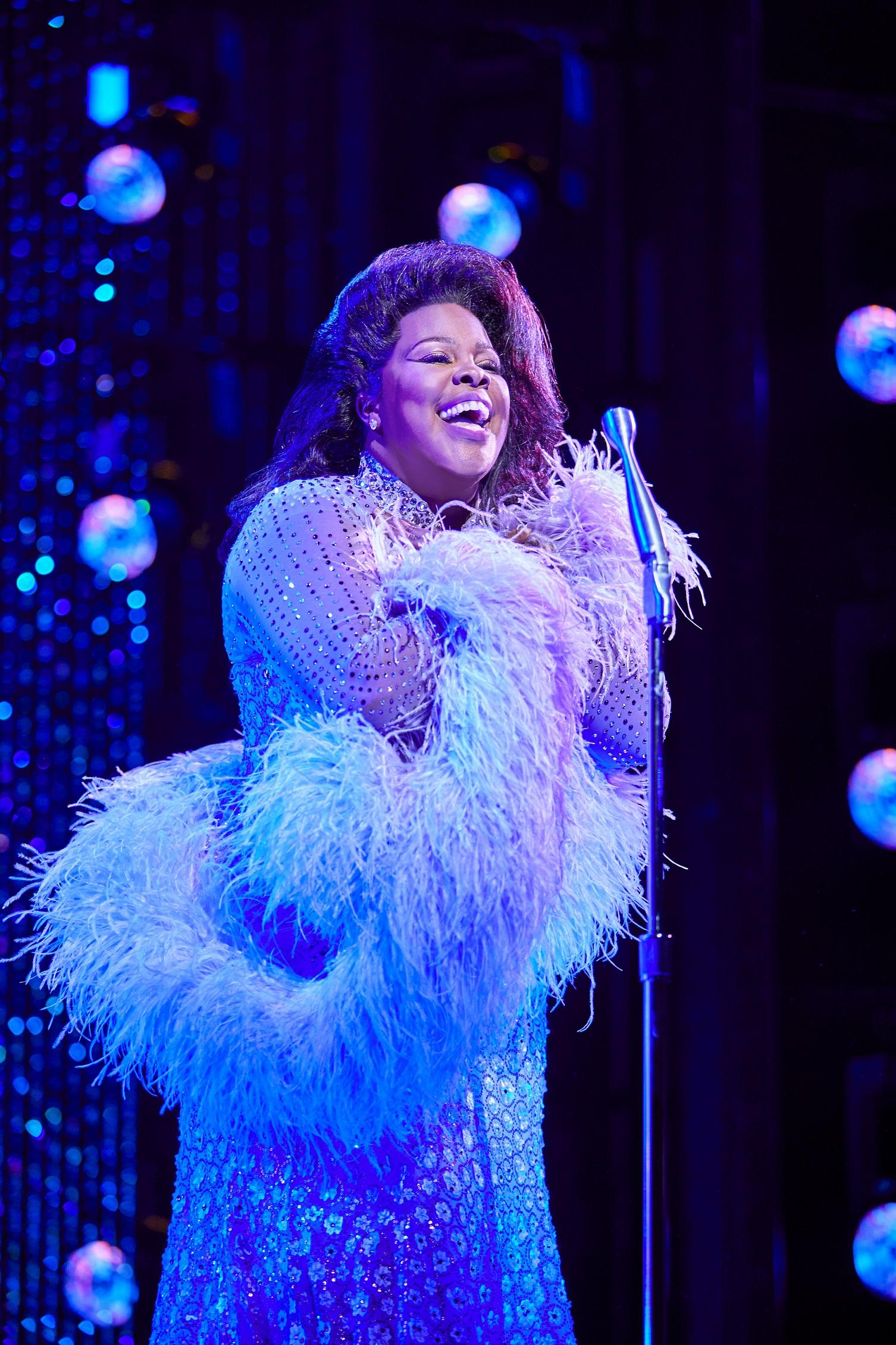Amber Riley in Dreamgirls at the Savoy Theatre (2). Credit Brinkhoff & Mögenburg.jpg
