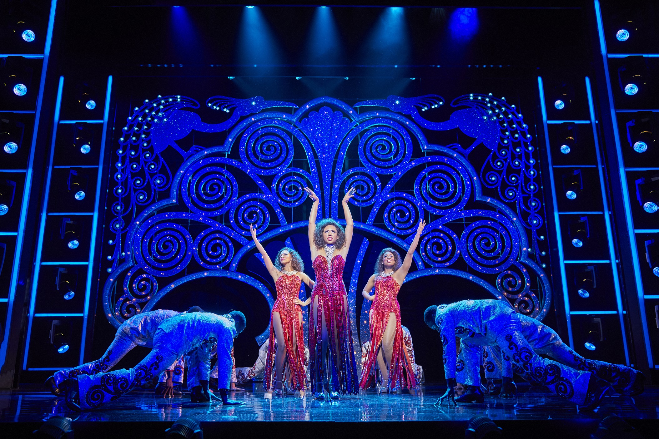 (l-r) Lily Frazer, Liisi LaFontaine and Ibinabo Jack in Dreamgirls at the Savoy Theatre. Credit Brinkhoff & Mögenburg (2).jpg