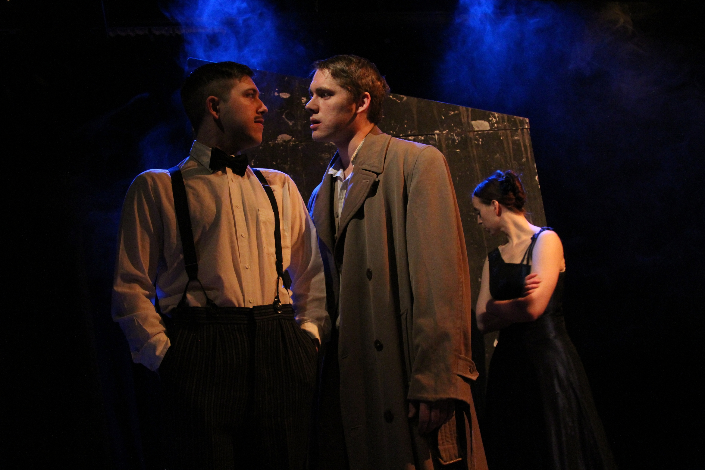 The Doppel Gang (Tristan Bates Theatre) - Jake Urry, Peter Stone and Rachel Hartley.JPG