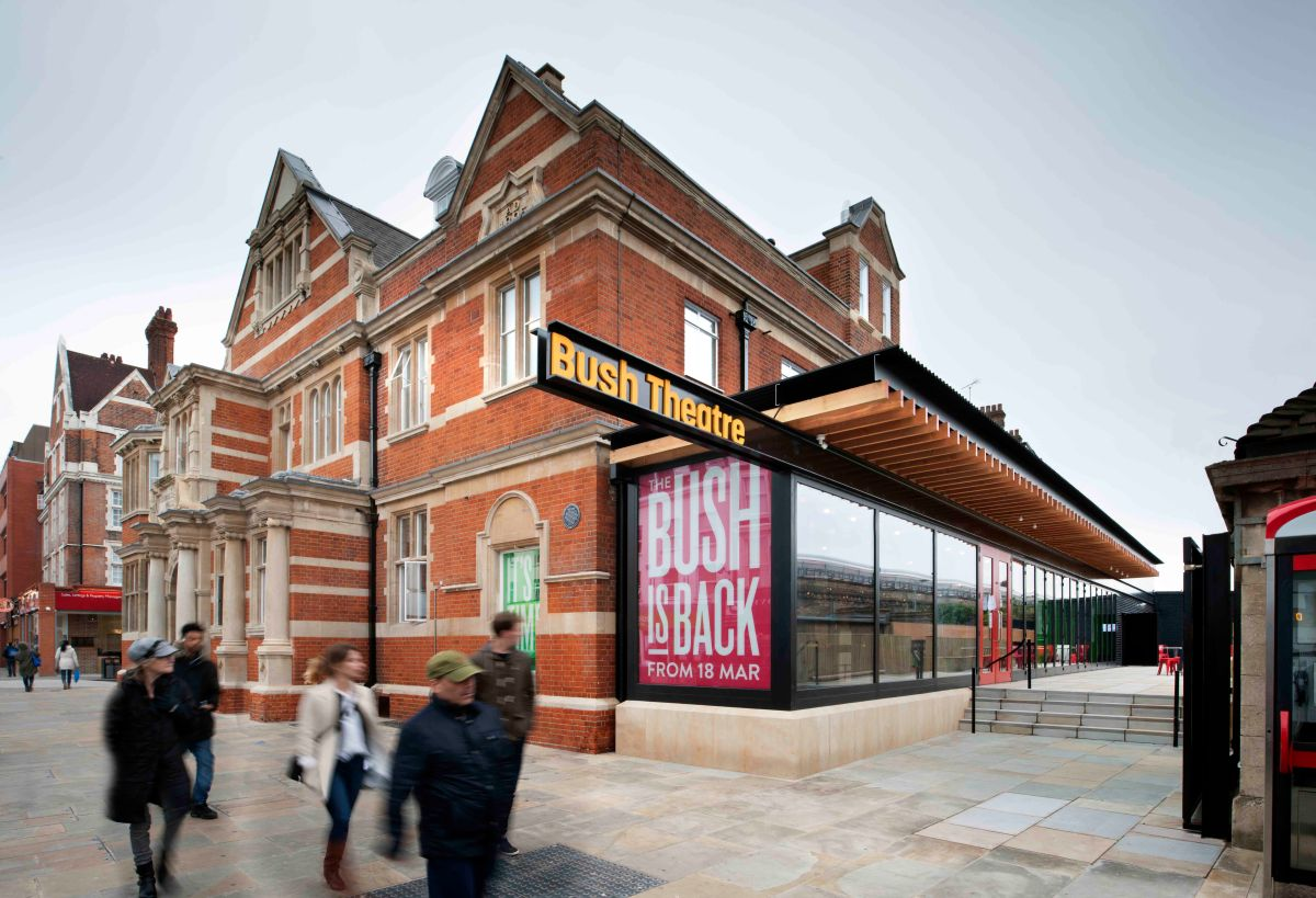 Exterior view of new extension. Bush Theatre reopens. Photographer Philip Vile