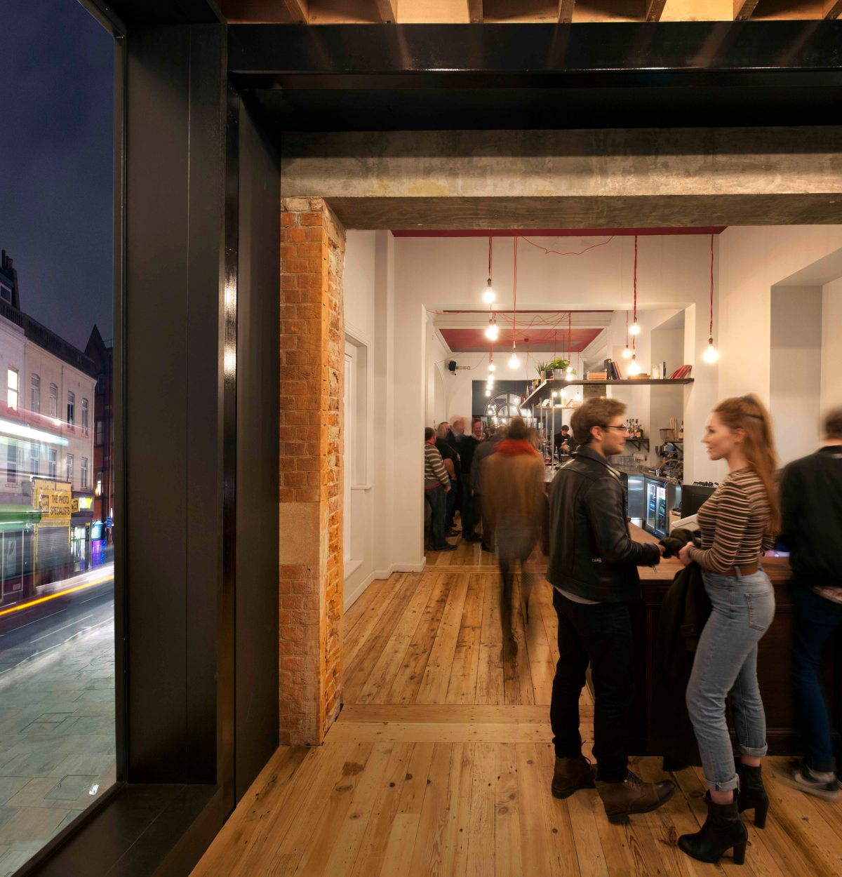 View from new extension to the Library Bar. Bush Theatre reopens. Photographer Philip Vile. Low res