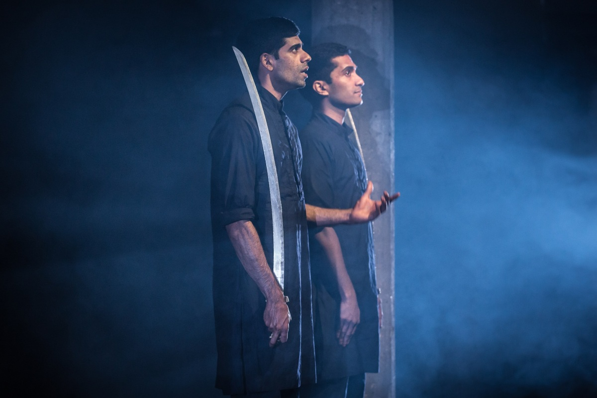 Darren Kuppan and Danny Ashok in Guards at the Taj at the Bush Theatre. Credit Marc Brenner.jpg