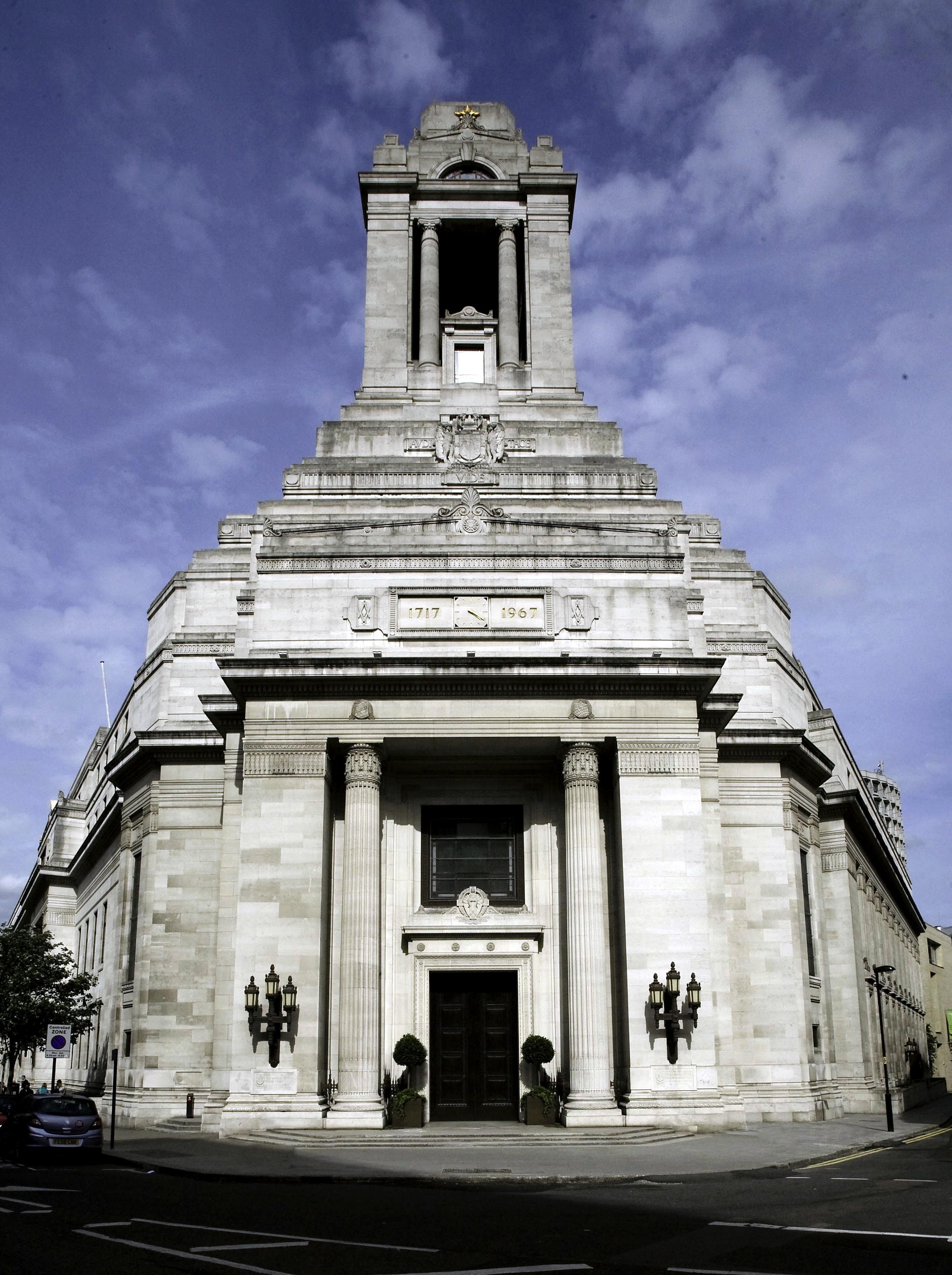 Freemasons Hall Covent Garden London
