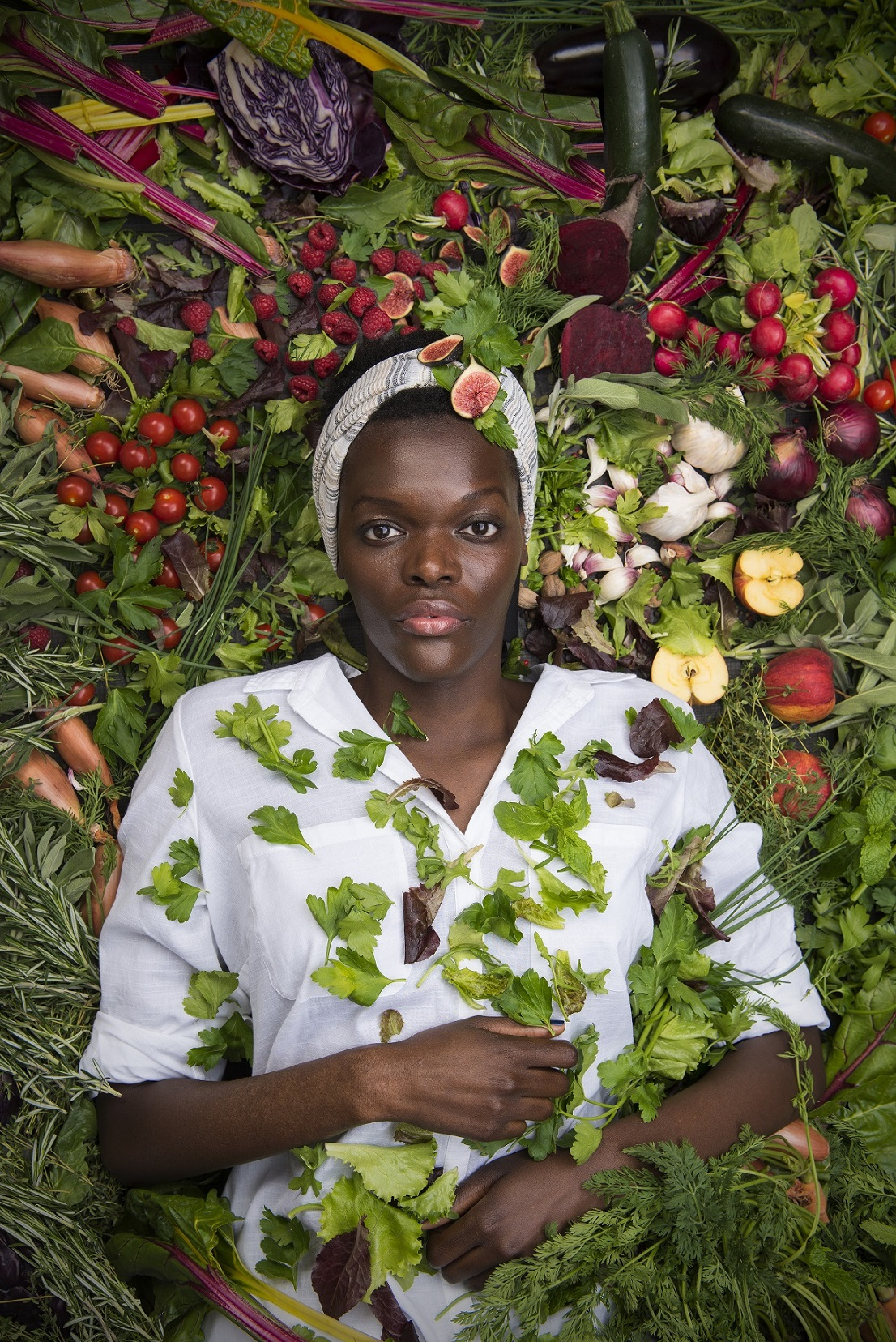 Sheila Atim as Babette in Babettes Feast. Photo by Hugo Glendinning