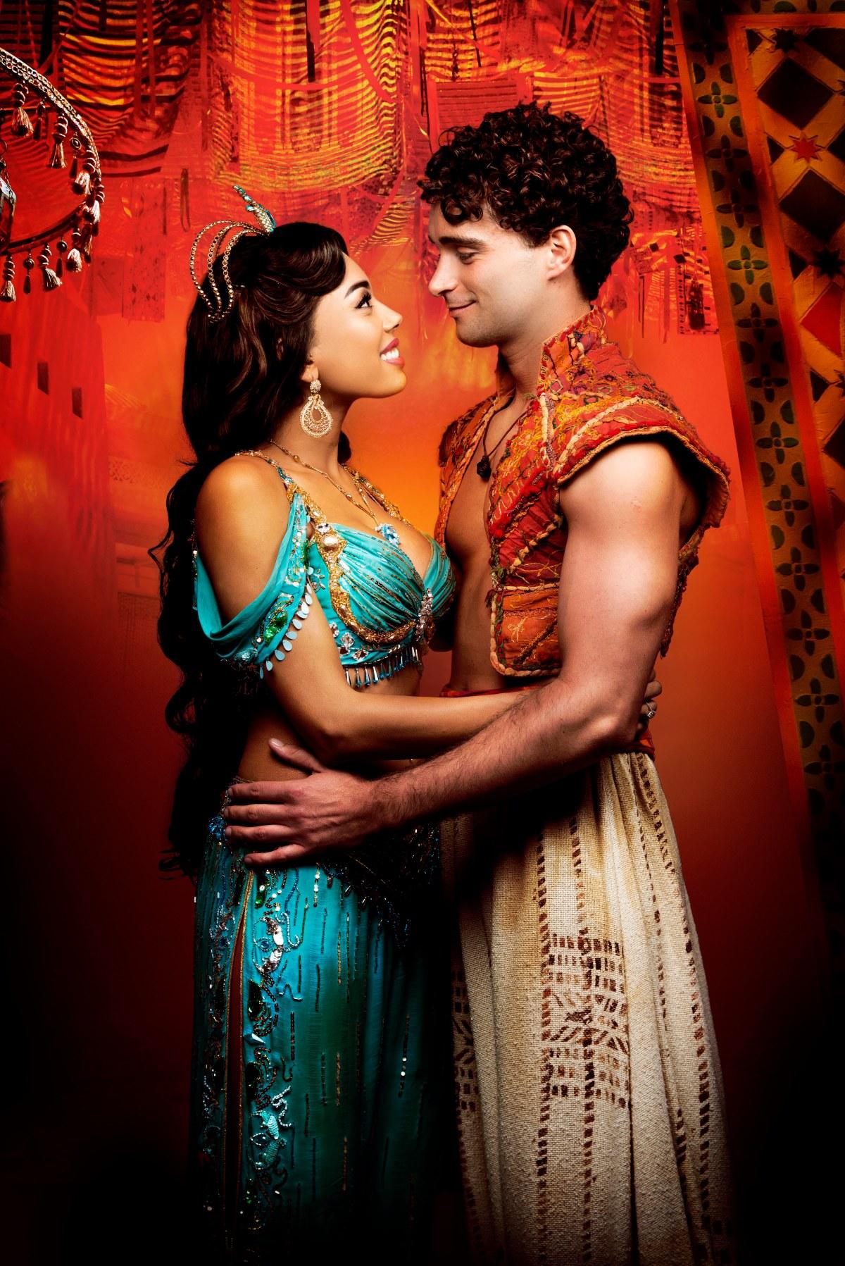 Aladdin - Prince Edward Theatre. Matthew Croke (Aladdin) and Jade Ewen (Jasmine) © Disney 10299