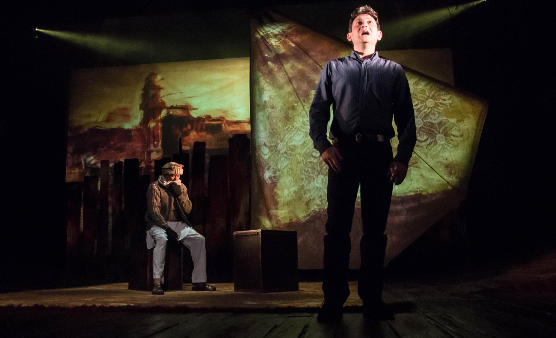 The Kite Runner Theatre Rhamin Khan (Karl Seth) Amir (David Ahmad) Photo Irina Chira