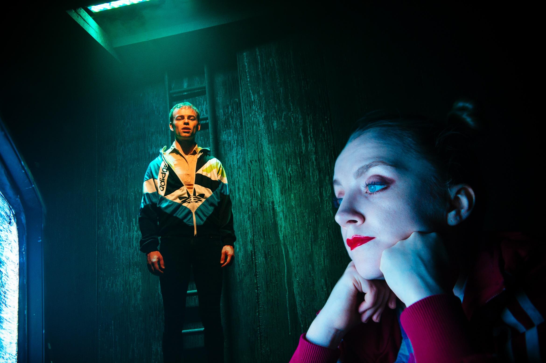 Colin Campbell and Evanna Lynch (c) Alex Brenner, no usage without credit, Disco Pigs @ Trafalgar Studios dir John Haidar (_DSC0375-Edit).jpg