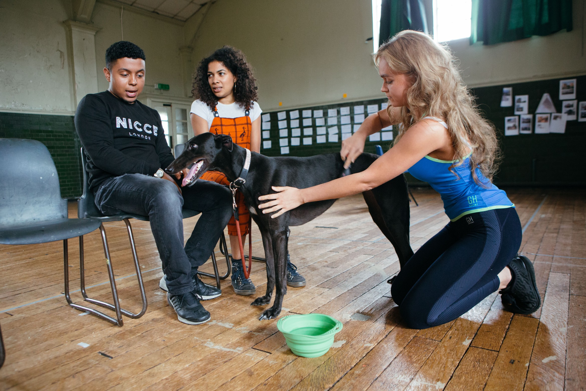 NYT The Host rehearsals. Taylor Keegan, Rebekah Murrell and Zakaria Douglas-Zerouali. Photo credit Helen Murray.jpg