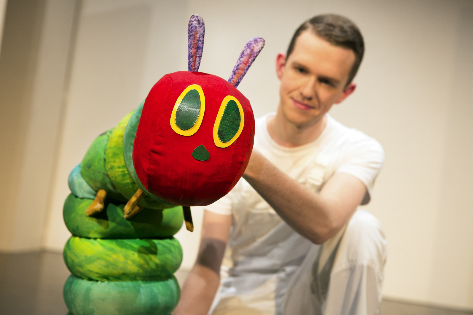 The Very Hungry Caterpillar (Adam Ryan) in The Very Hungry Caterpillar Show. Photo Credit Pamela Raith Photography.jpg