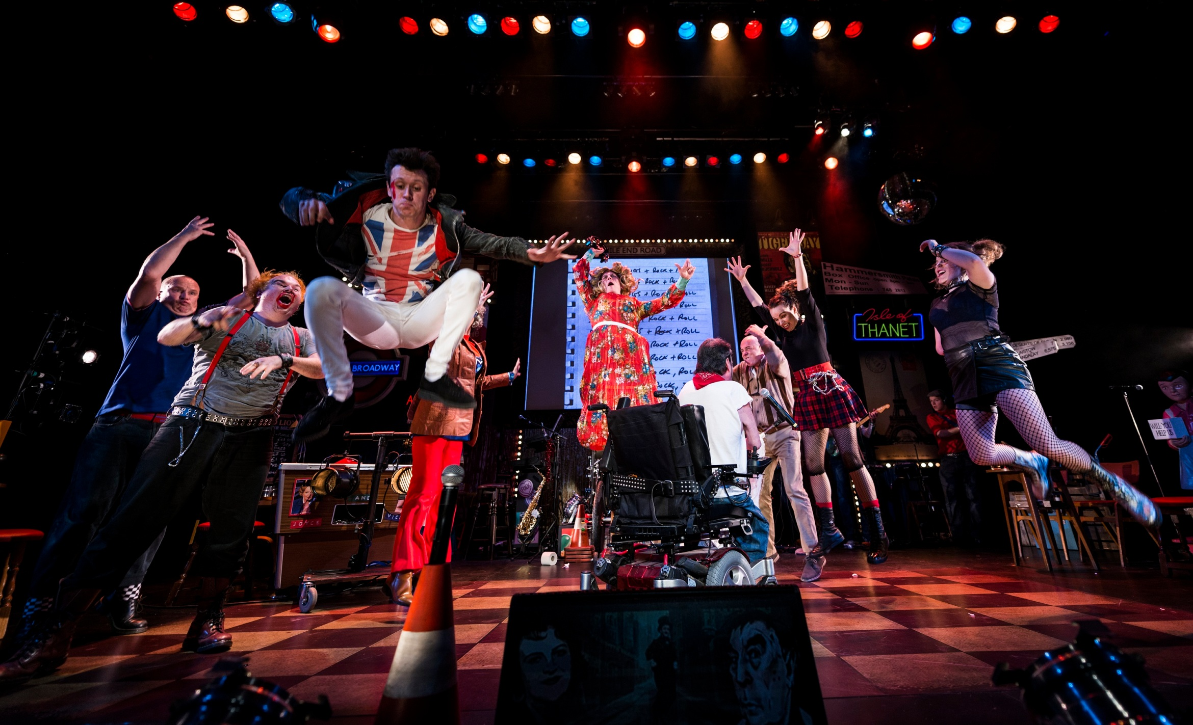 """Graeae Theatre Company. """"Reasons To Be Cheerful""""."""