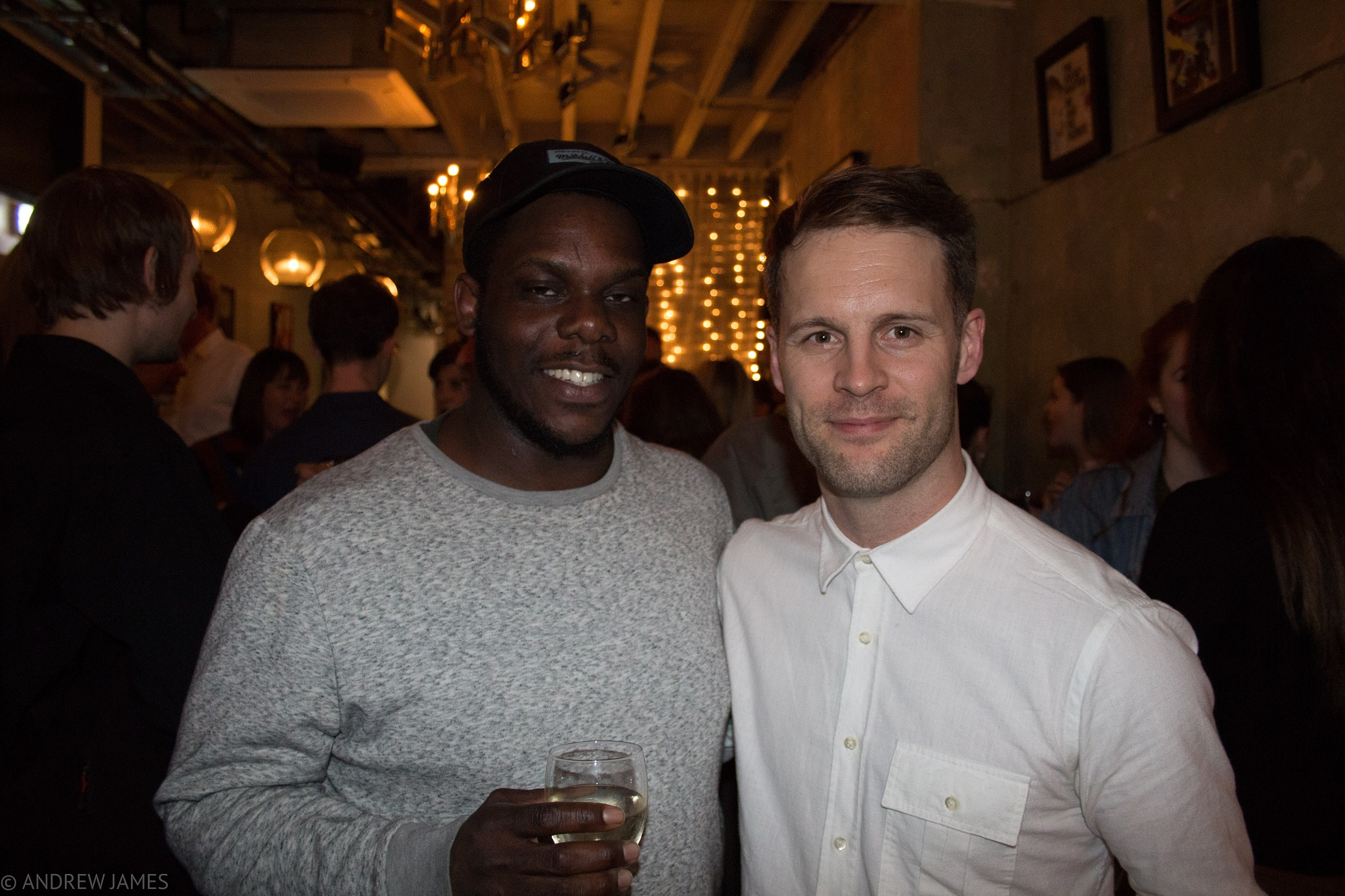 NYT West End REP Directors Roy Alexander Weise (Jekyll and Hyde) and Simon Pittman (Othello) at the opening night of Othello