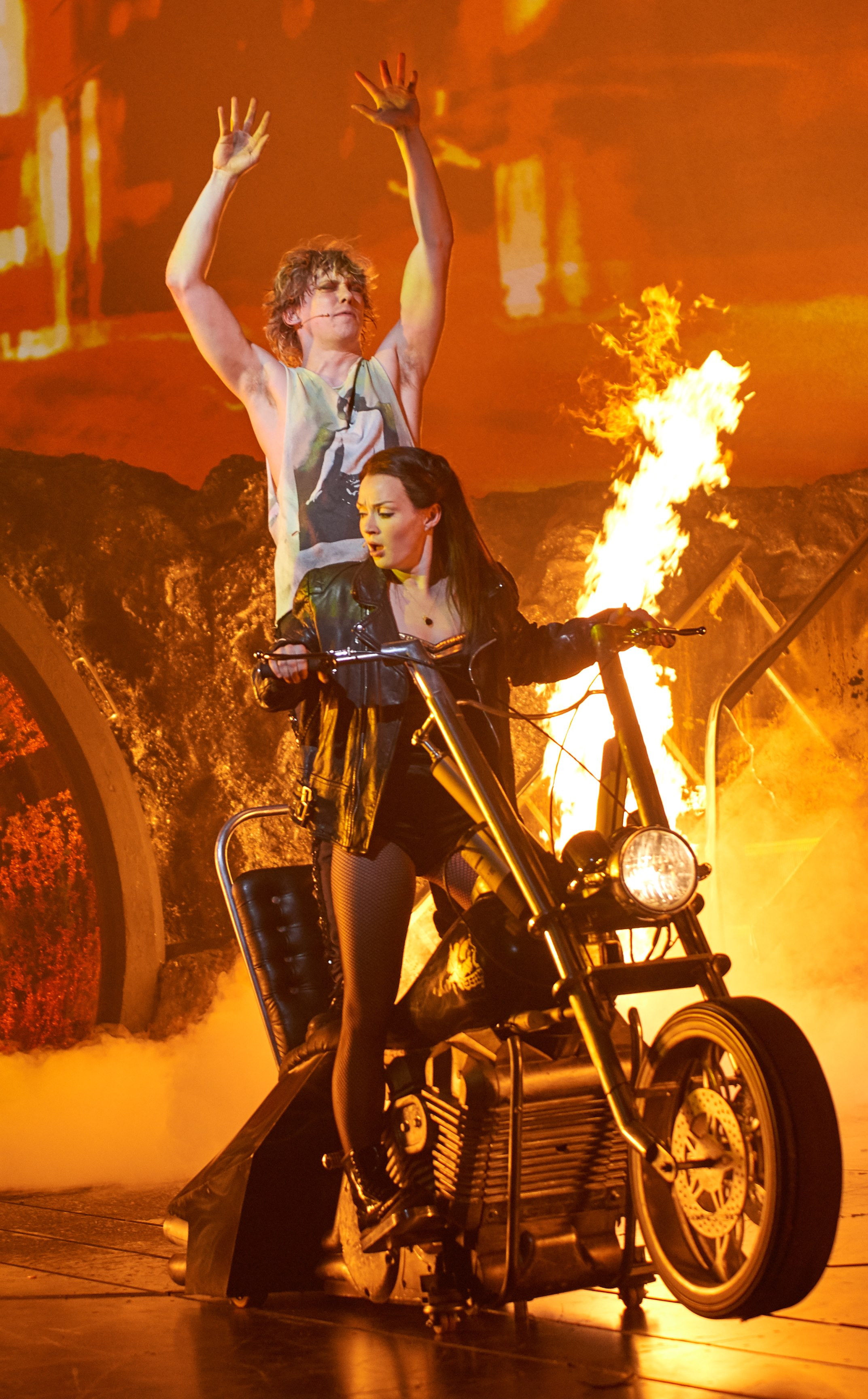 Andrew Polec as Strat & Christina Bennington as Raven in BAT OUT OF HELL credit Specular (3)
