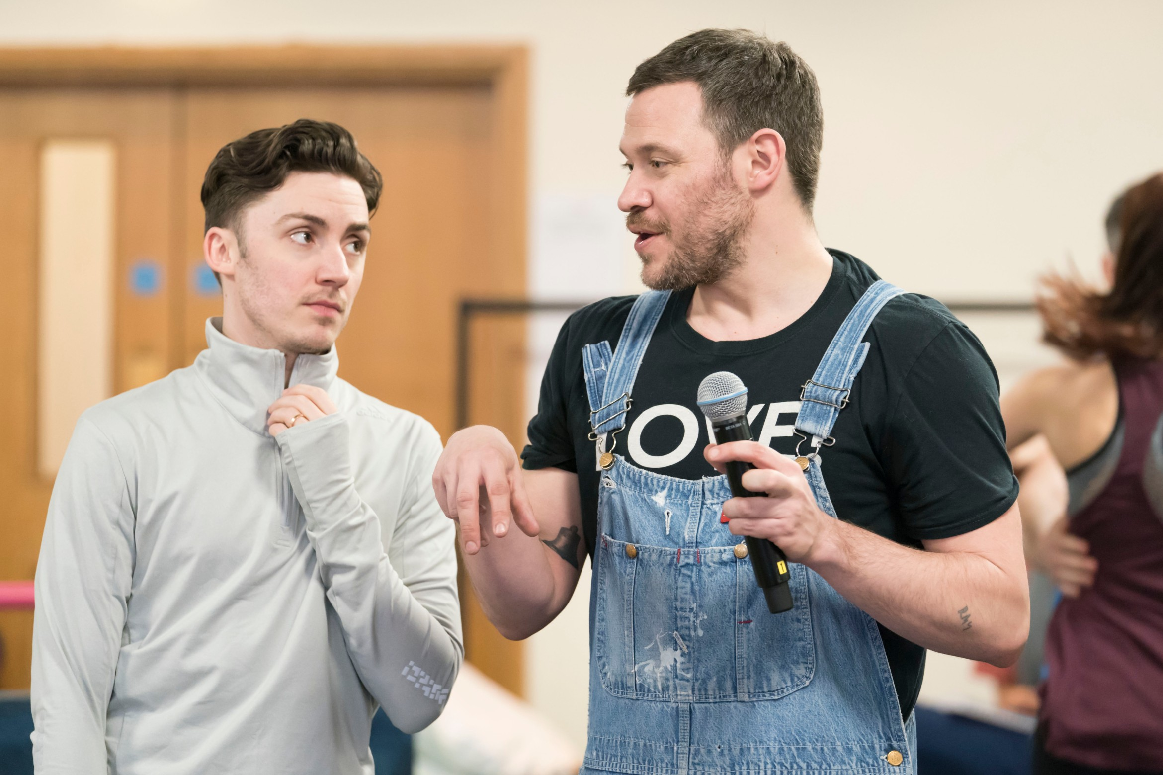 Drew McOnie & Will Young (l-r) in rehearsals for Strictly Ballroom The Musical. Photo by Johan Persson_02515.jpg