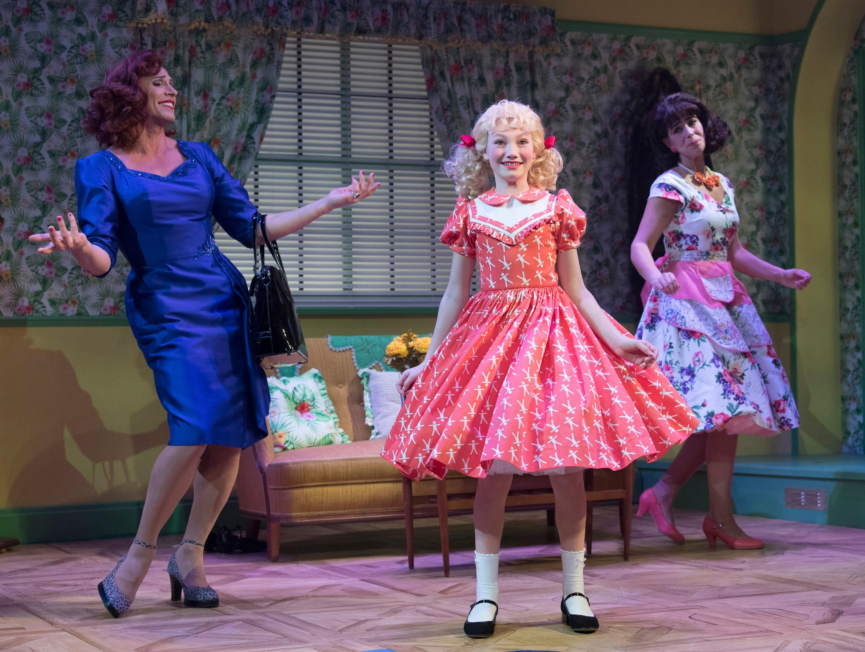 Ruthless! The Musical. Jason Gardiner (Sylvia St. Croix), Lucy Simmonds (Tina Denmark) & Kim Maresca (Judy Denmark). Credit - Alastair Muir.jpg