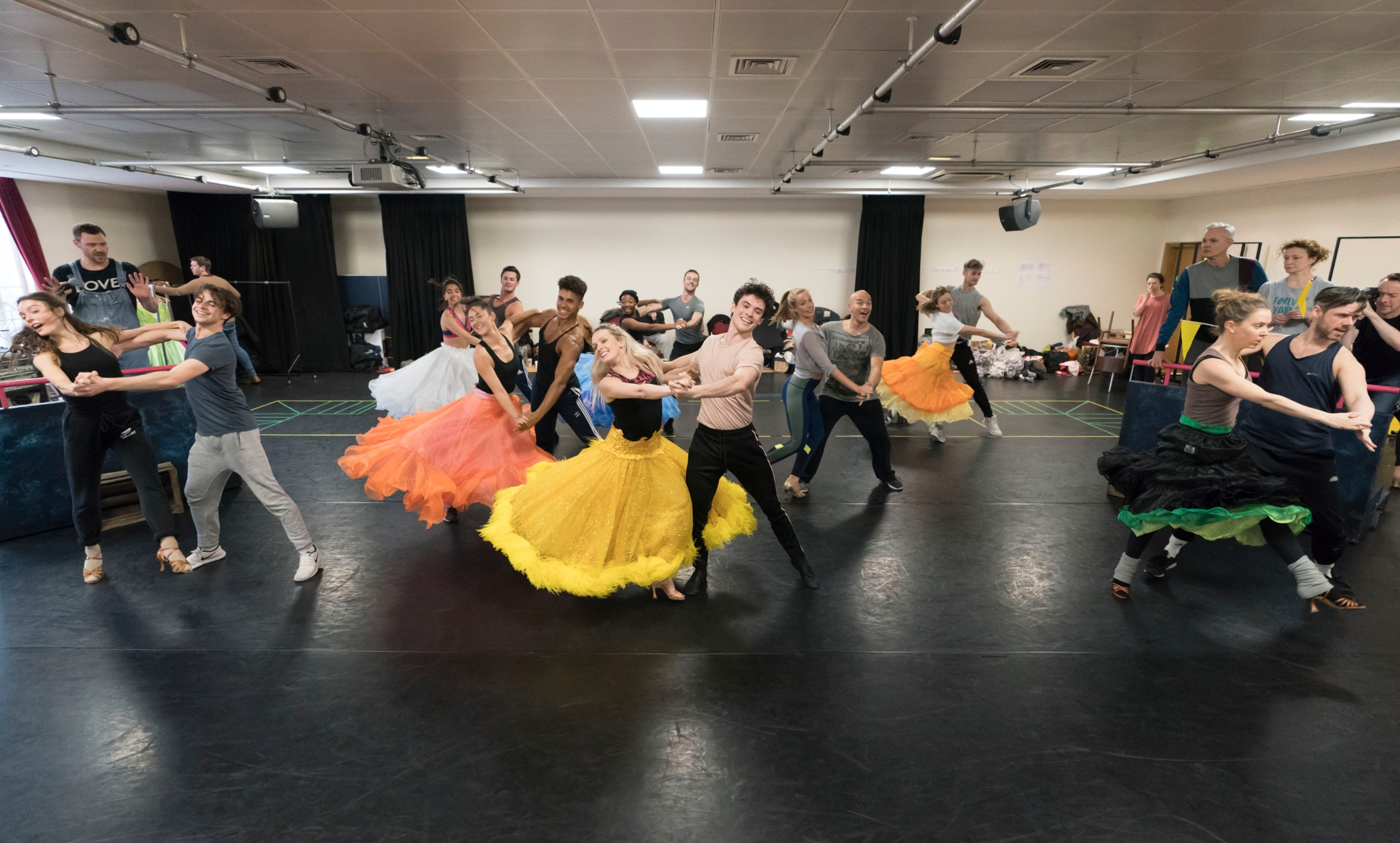 The cast of Strictly Ballroom The Musical in rehearsals. Photo by Johan Persson_02375.jpg