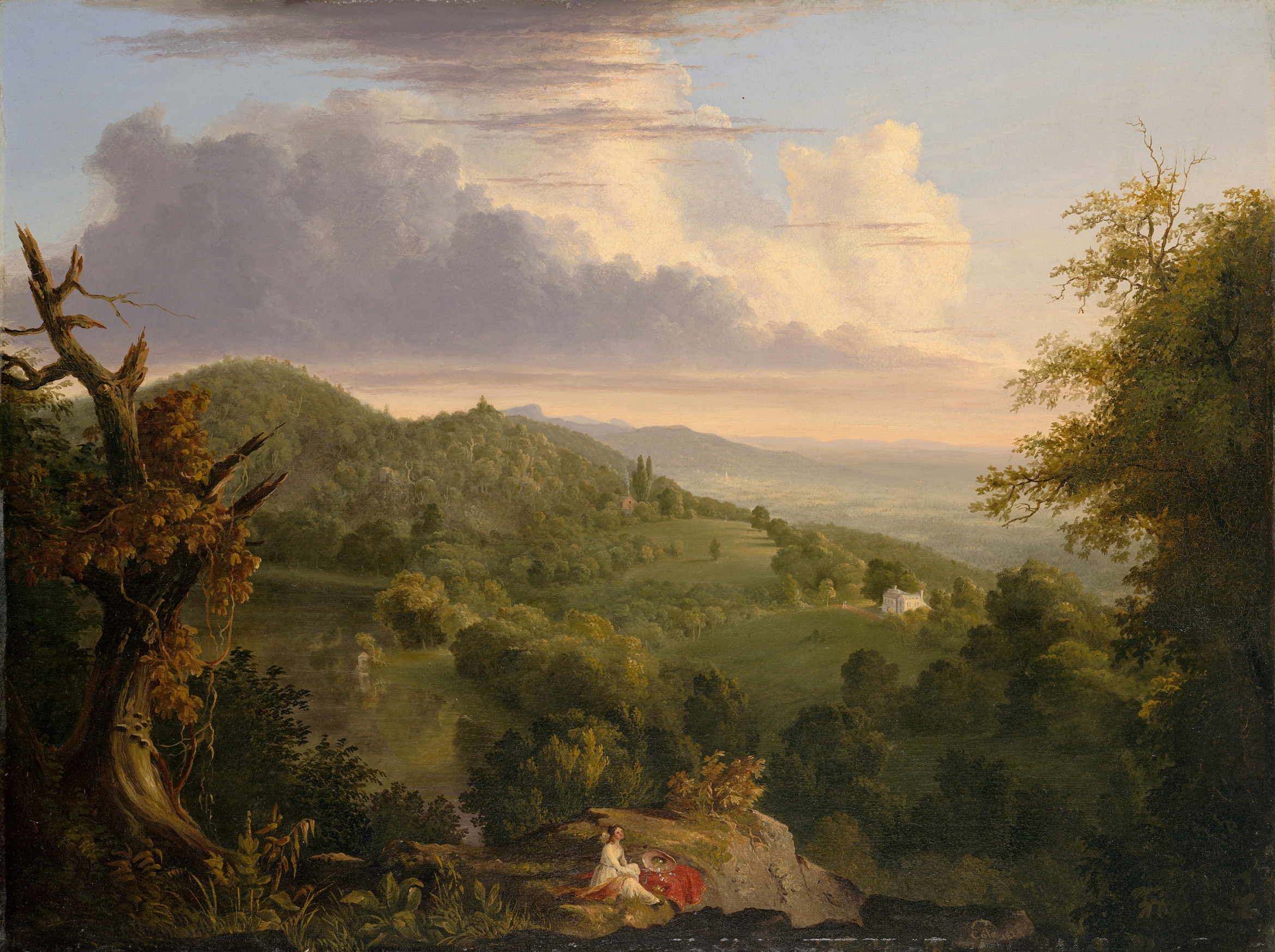 View of Monte Video, the Seat of Daniel Wadsworth, Esq, 1828