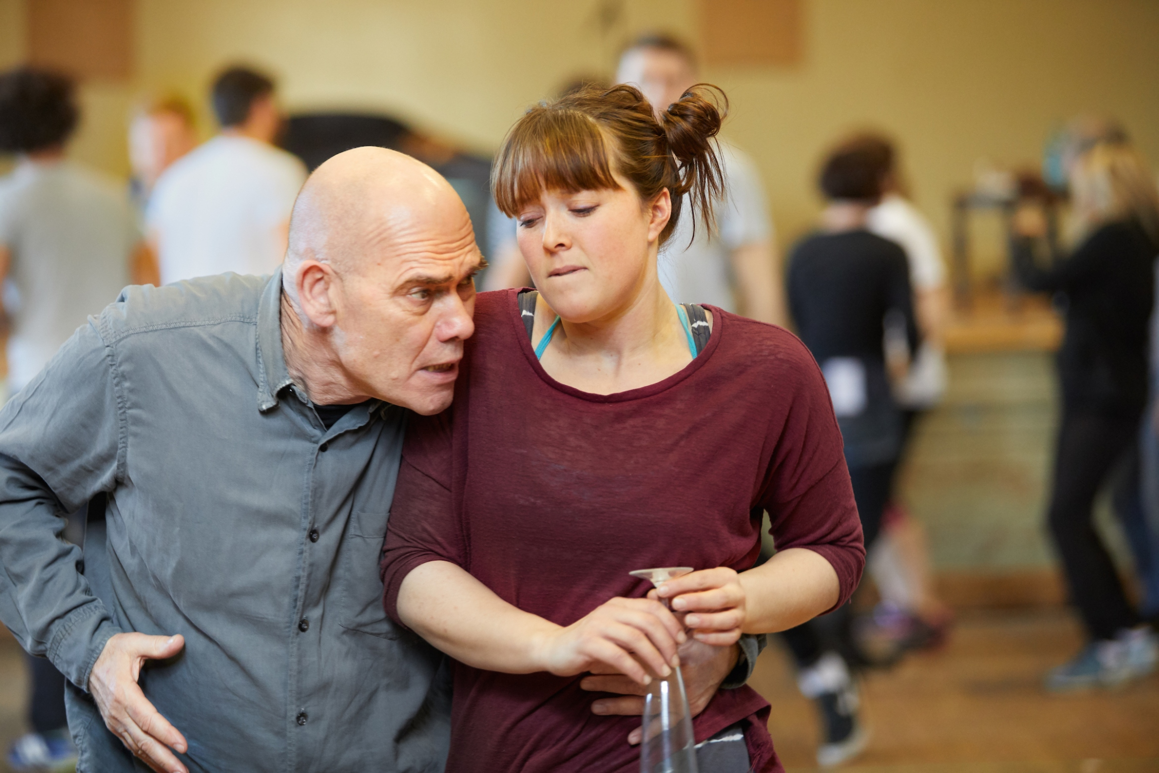 Much Ado About Nothing at Rose Theatre Kingston. Peter Guiness (Don Pedro) & Kate Lamb (Hero) . Credit - Mark Douet..jpg
